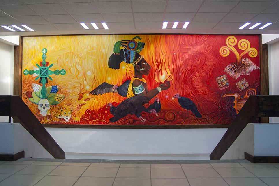 Mural en Centro Universitario de Información y Documentación