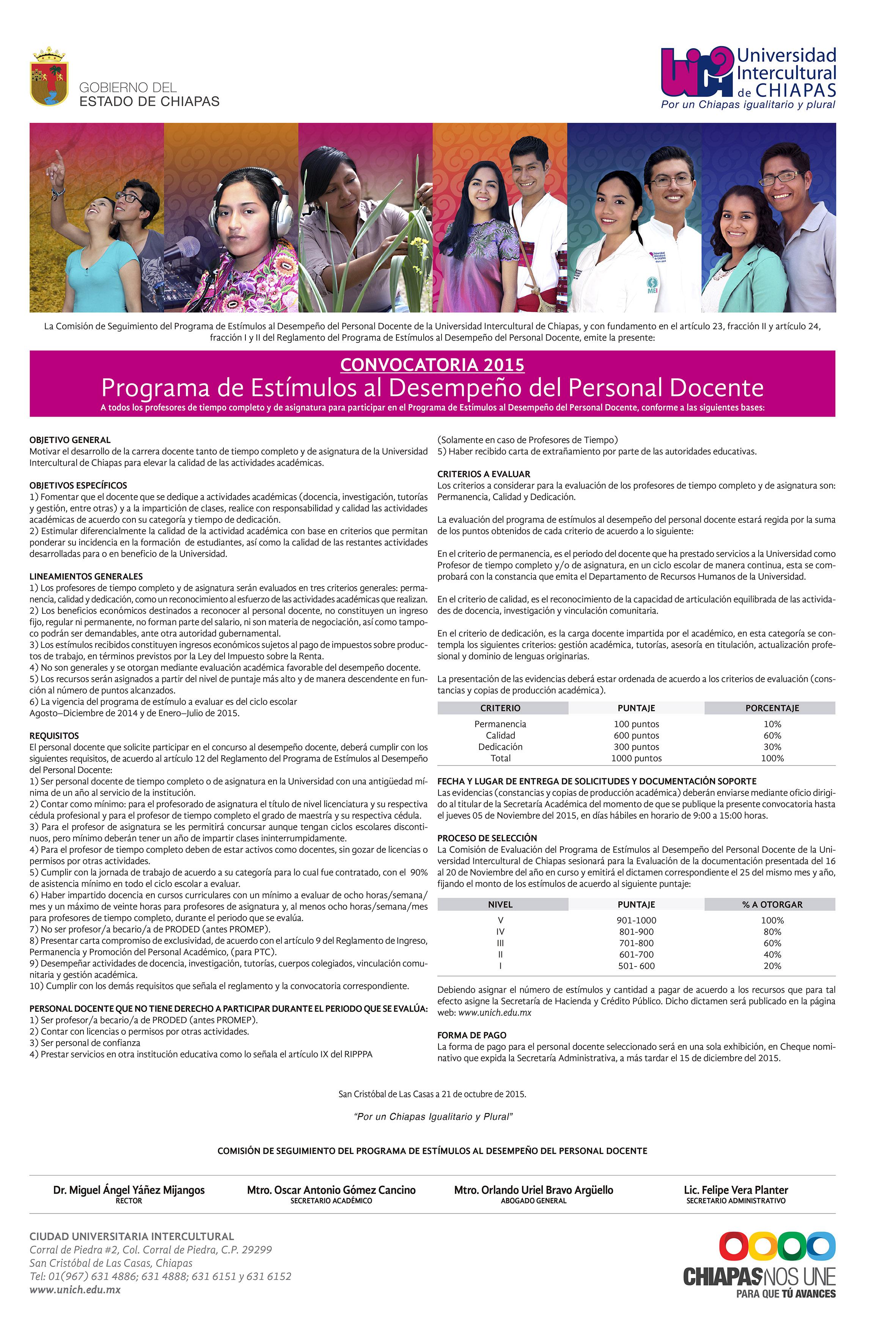 Convocatoria de programa de est mulos al desempe o del for Convocatoria docente