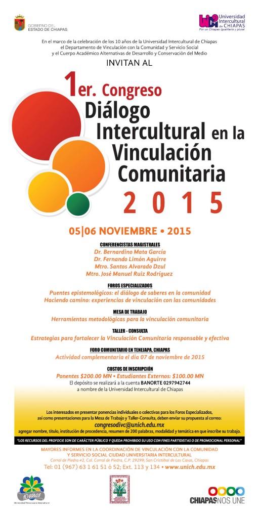 1er. Congreso Dialogo Intercultural en la Vinculación Universitaria 2015