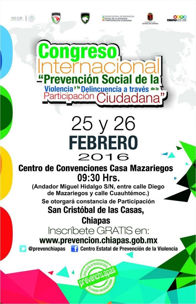 """Congreso Internacional """"Prevencion Social de la Violencia"""""""