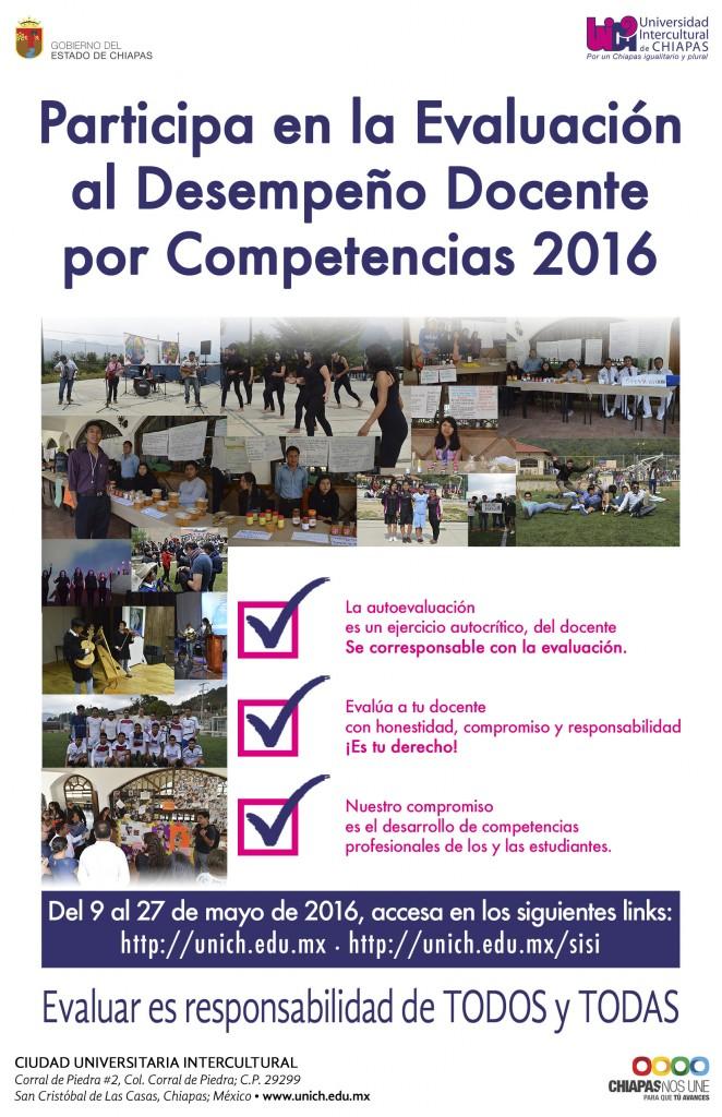 Evaluación al desempeño docente por competencias 2016