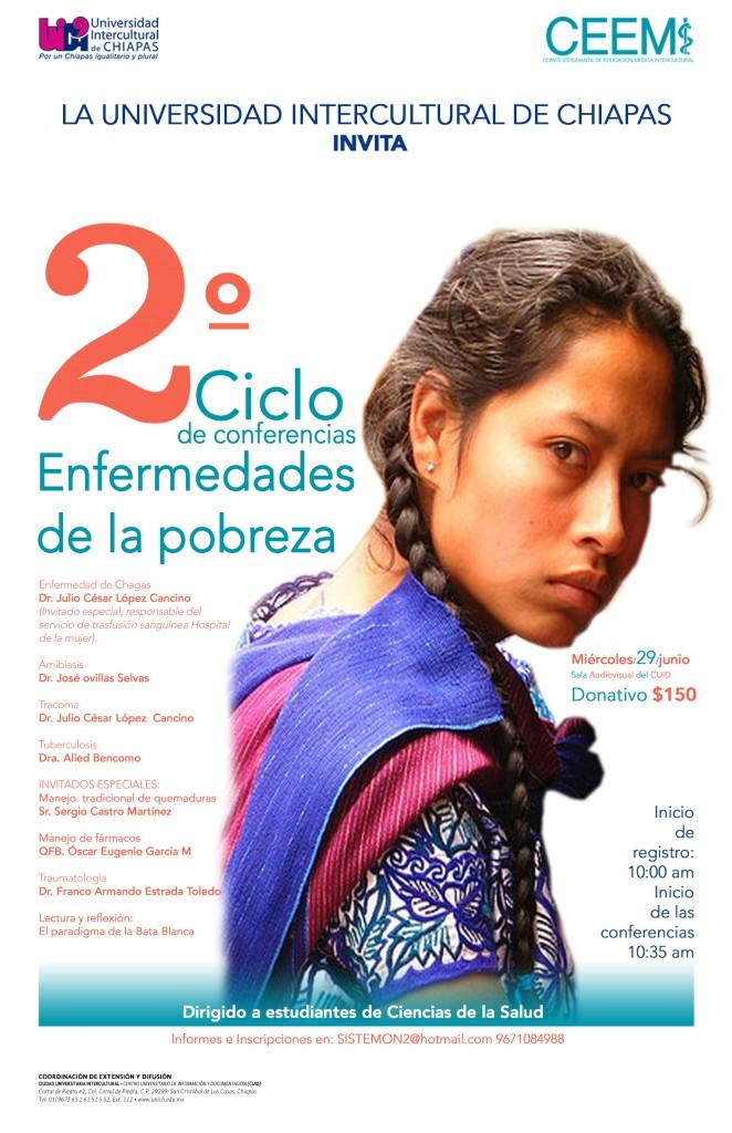"""2o Ciclo de conferencias, """"Enfermedades de la pobreza"""""""