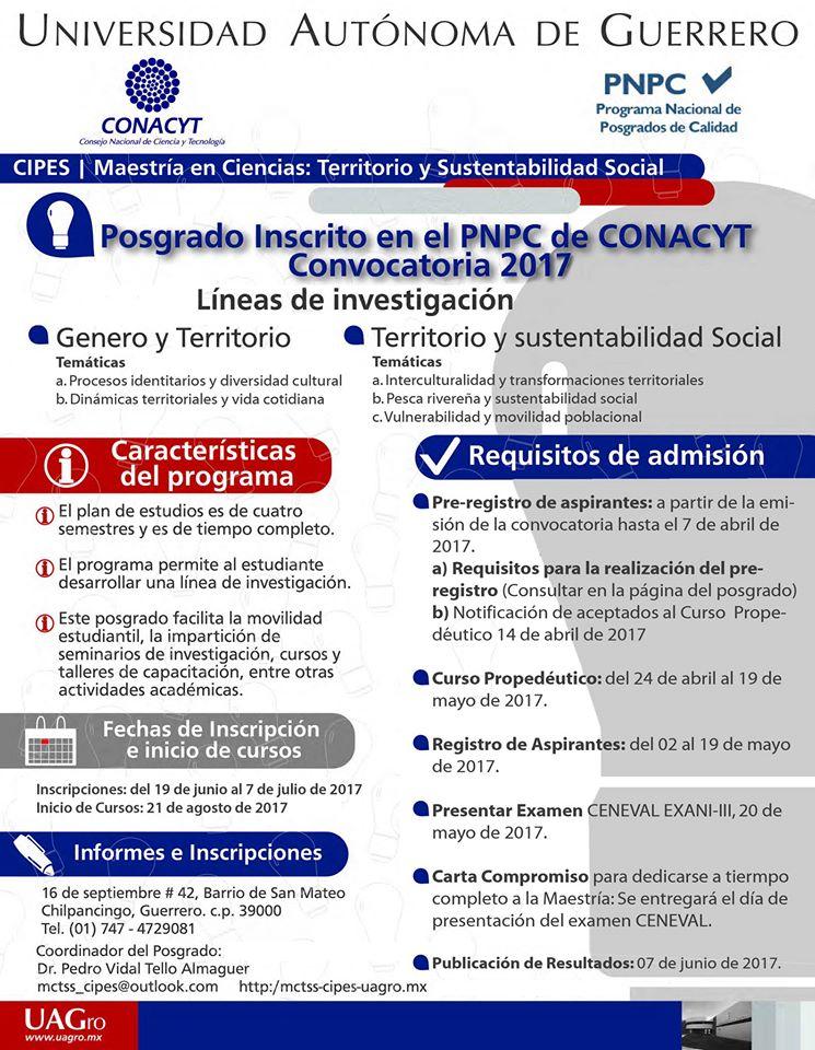 Convocatoria 2017 MCTSS