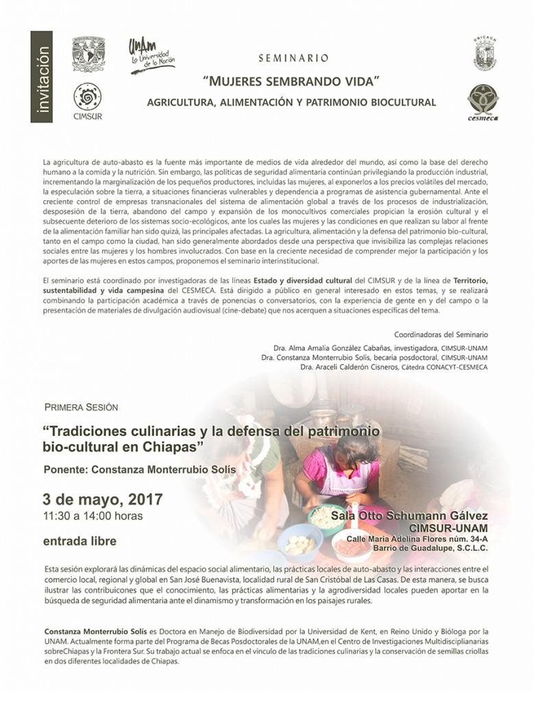 Invitación Seminario Mujeres Sembrando Vida