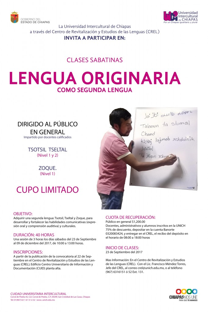 CLASES DE LENGUAS ORIGINARIAS