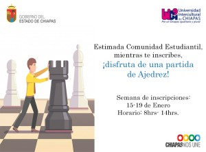 aviso inscripciones juega ajedrez