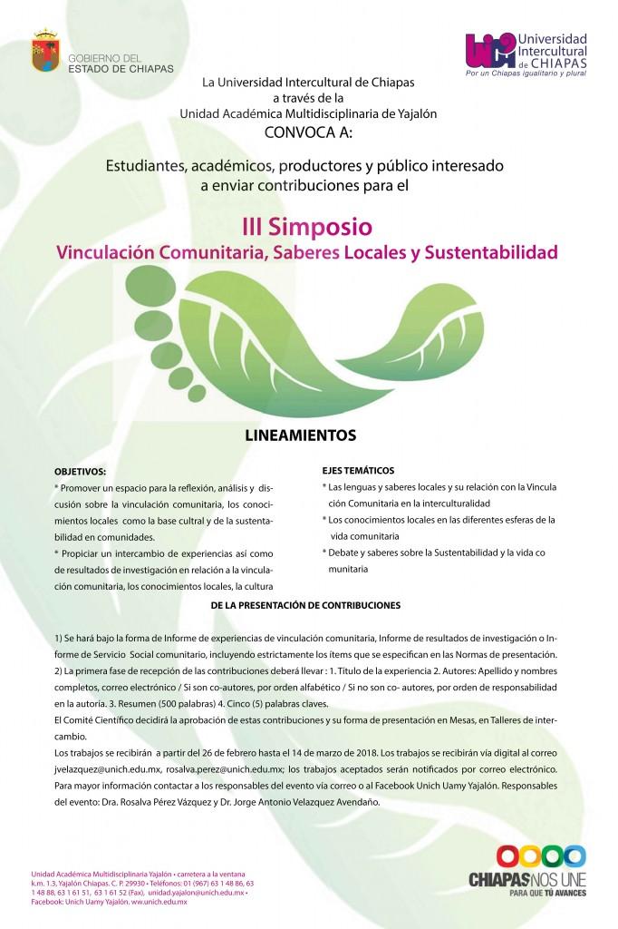 III Simposio de Vinculación comunitaria, saberes locales y sustentabilidad