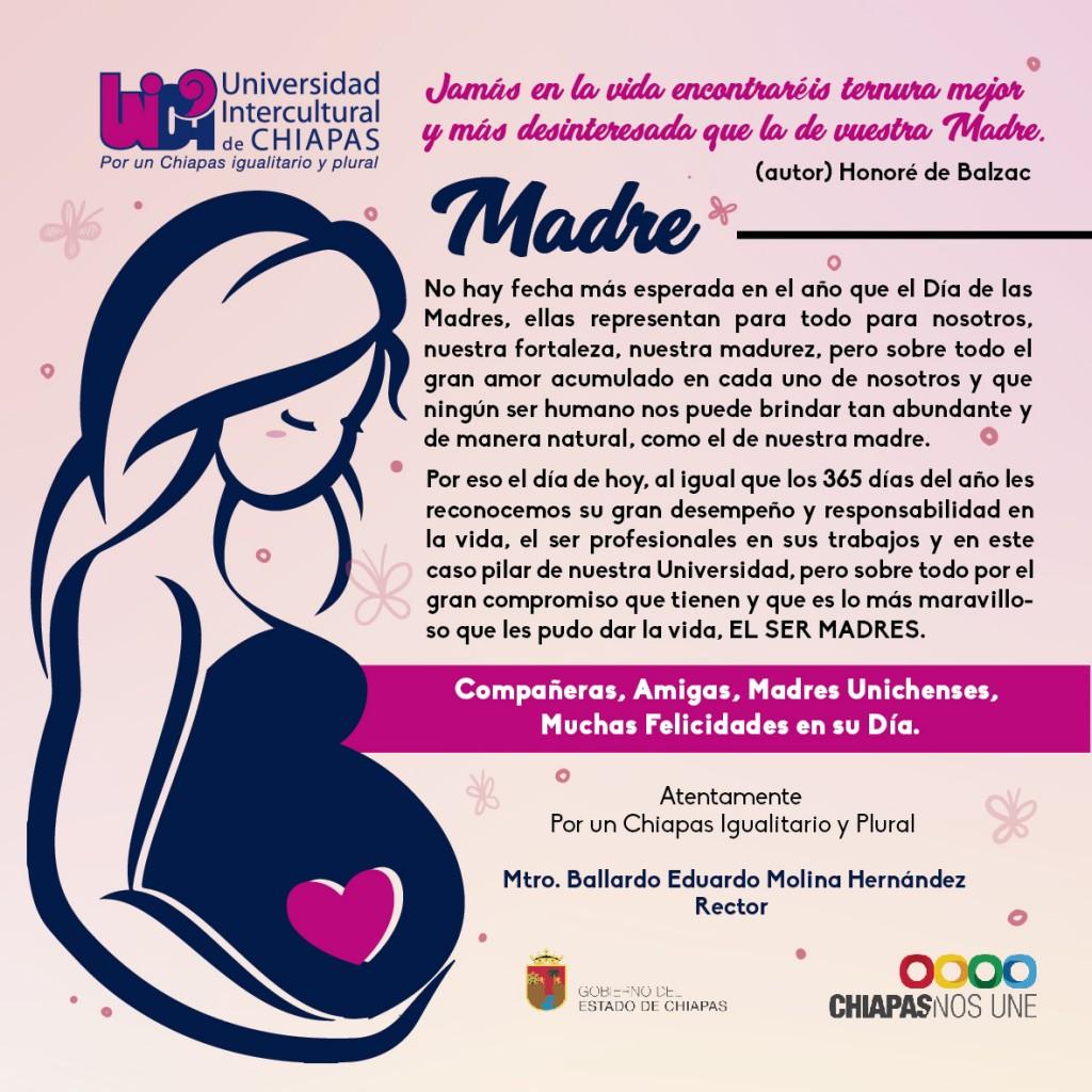 mensaje del rector de la Unich por el día de las madres