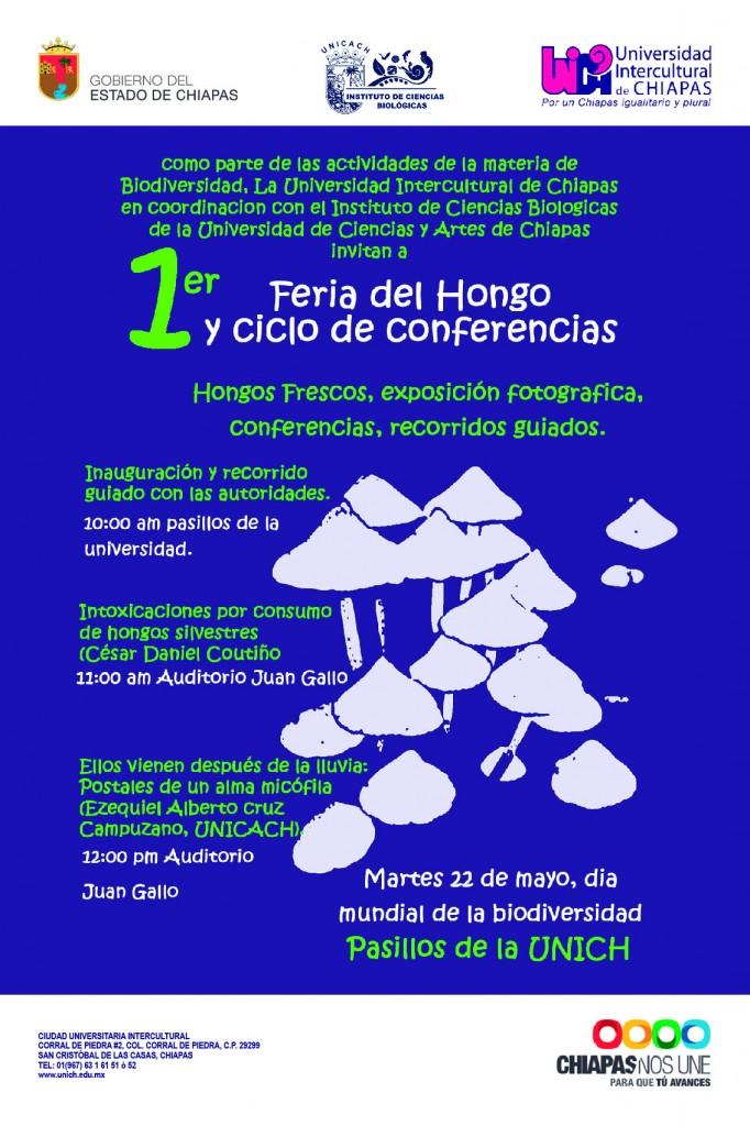 1er FERIA DEL HONGO Y CICLO DE CONFERENCIAS