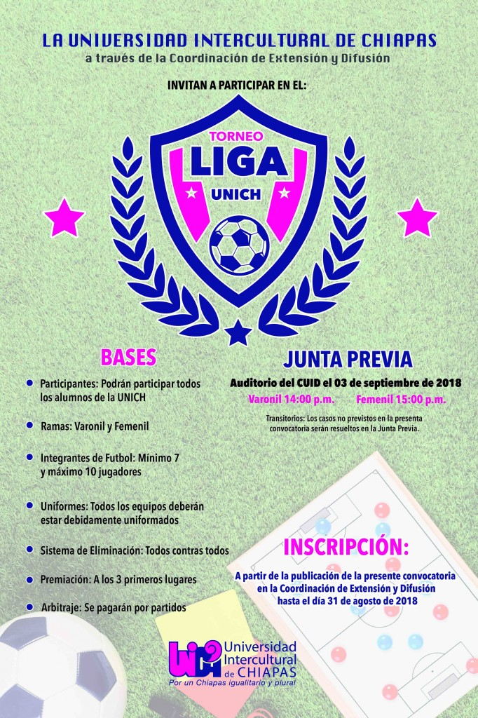 Convocatoria Liga UNICH