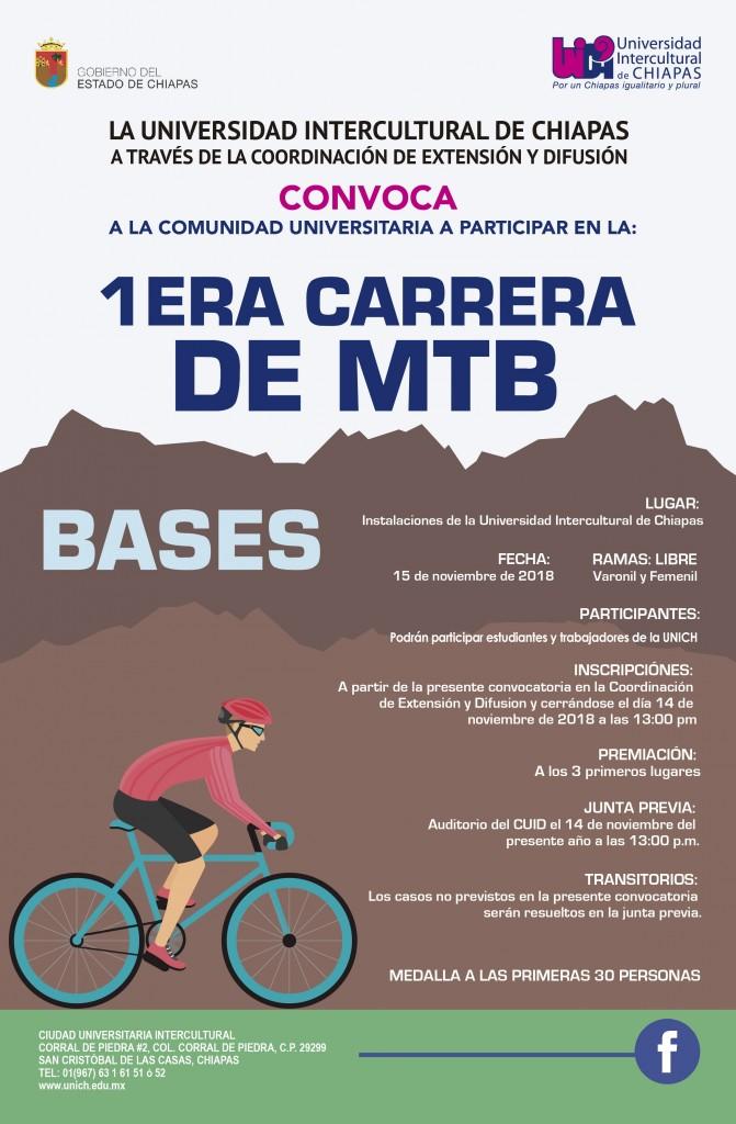 Participa en la Primera Carrera de Ciclismo de Montaña UNICH