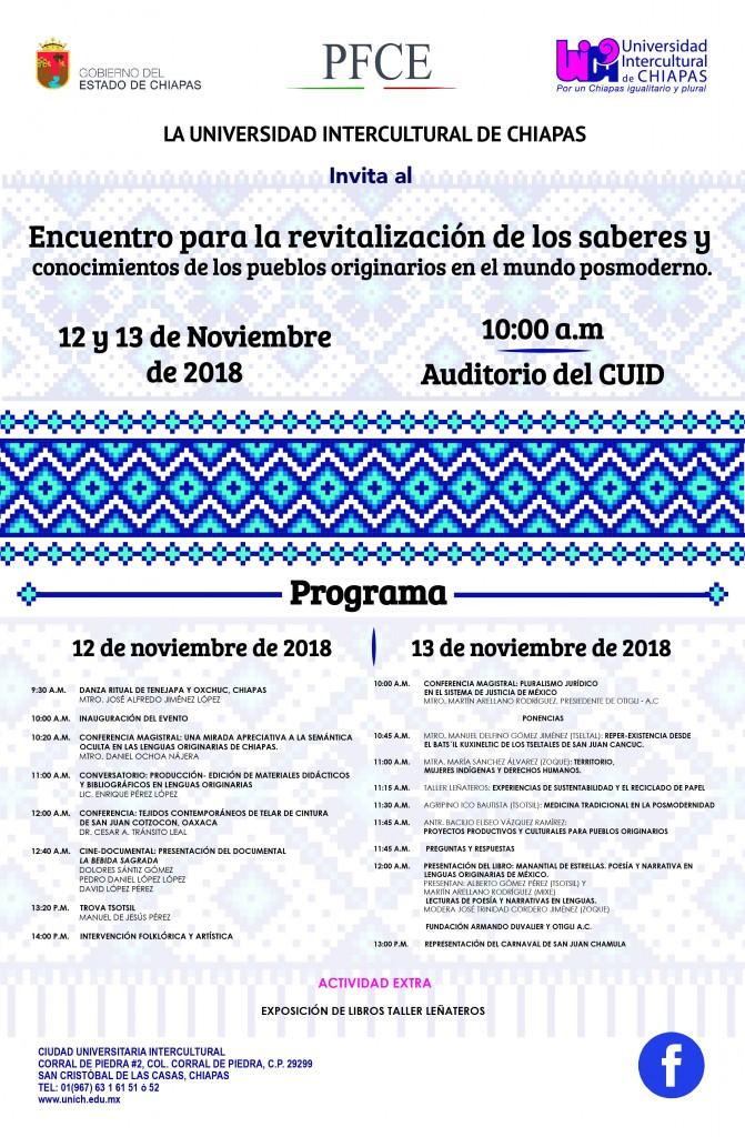 Encuentro para la Revitalización de los saberes y conocimientos de los pueblos