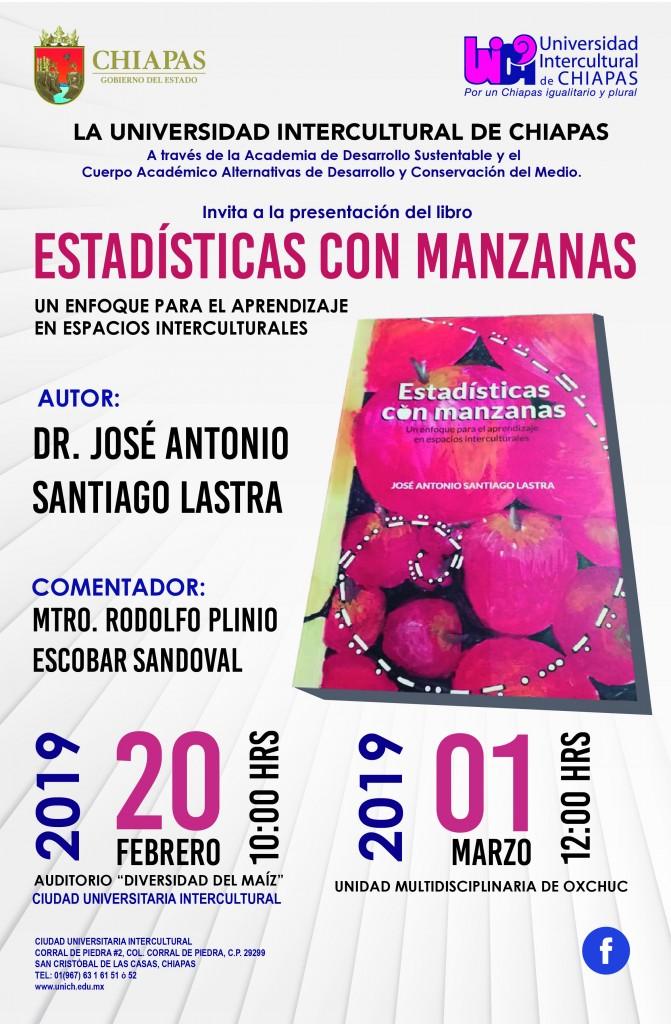 """presentación del libro """"Estadísticas con manzanas"""""""