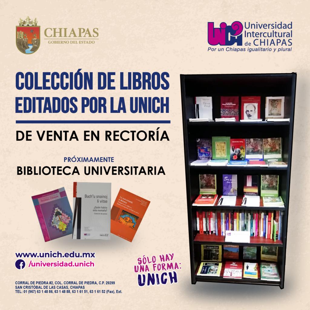Colección de libros por la UNICH