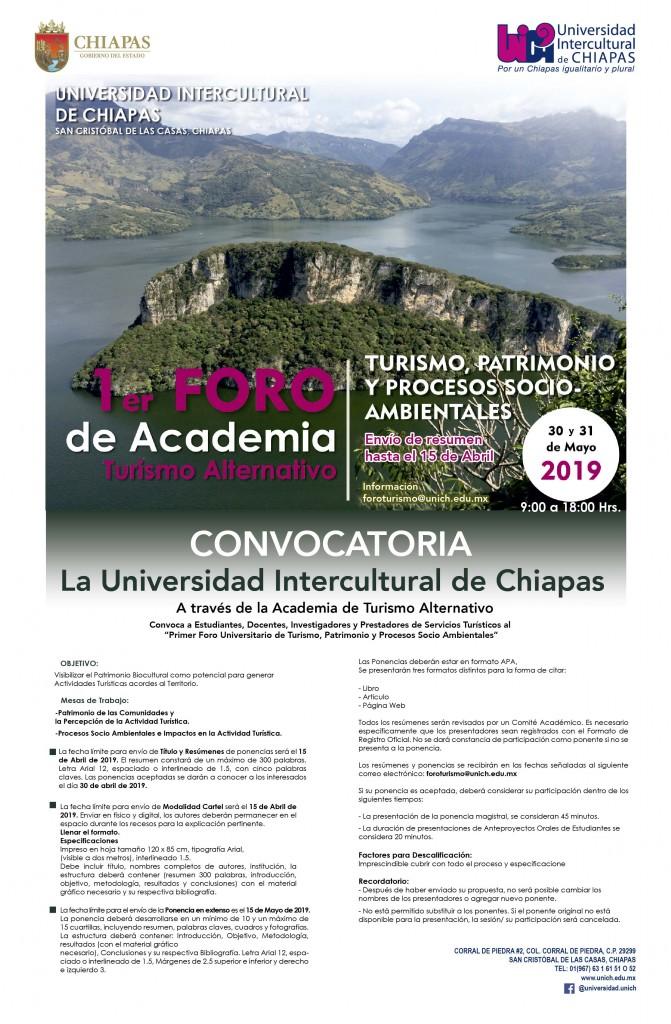 1er Foro Turismo, patrimonio y procesos socioambientales