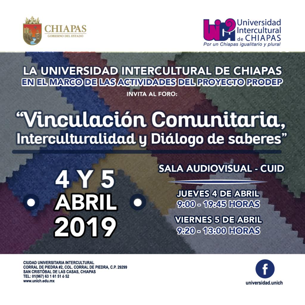 Foro Vinculación Comunitaria, interculturalidad y diálogo de saberes