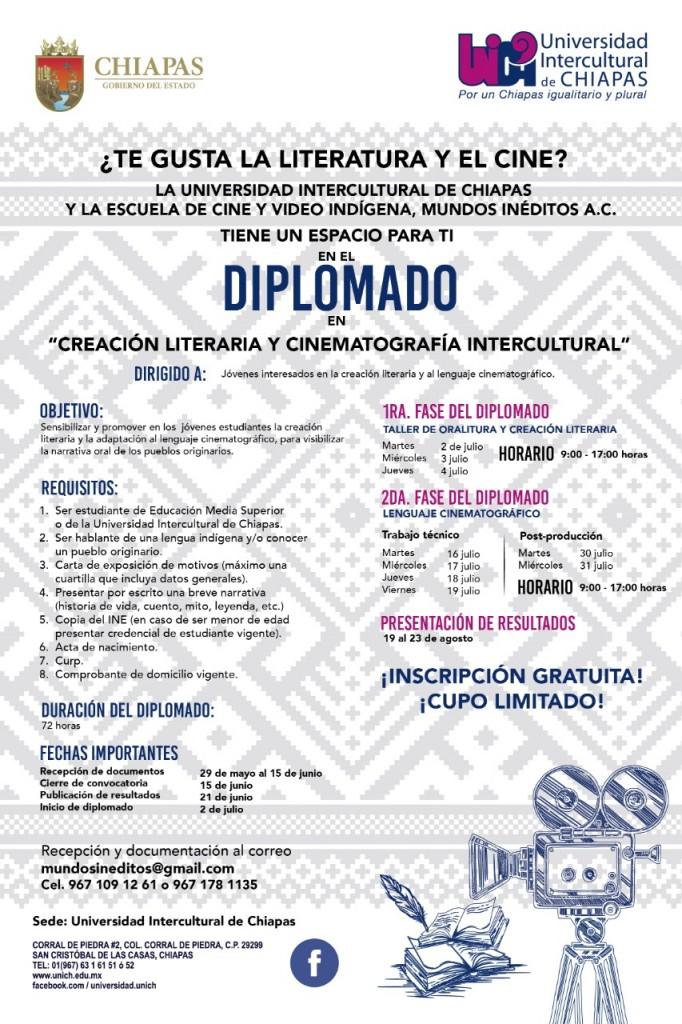 """Diplomado en """"Creación Literaria y Cinematografía Intercultural"""""""