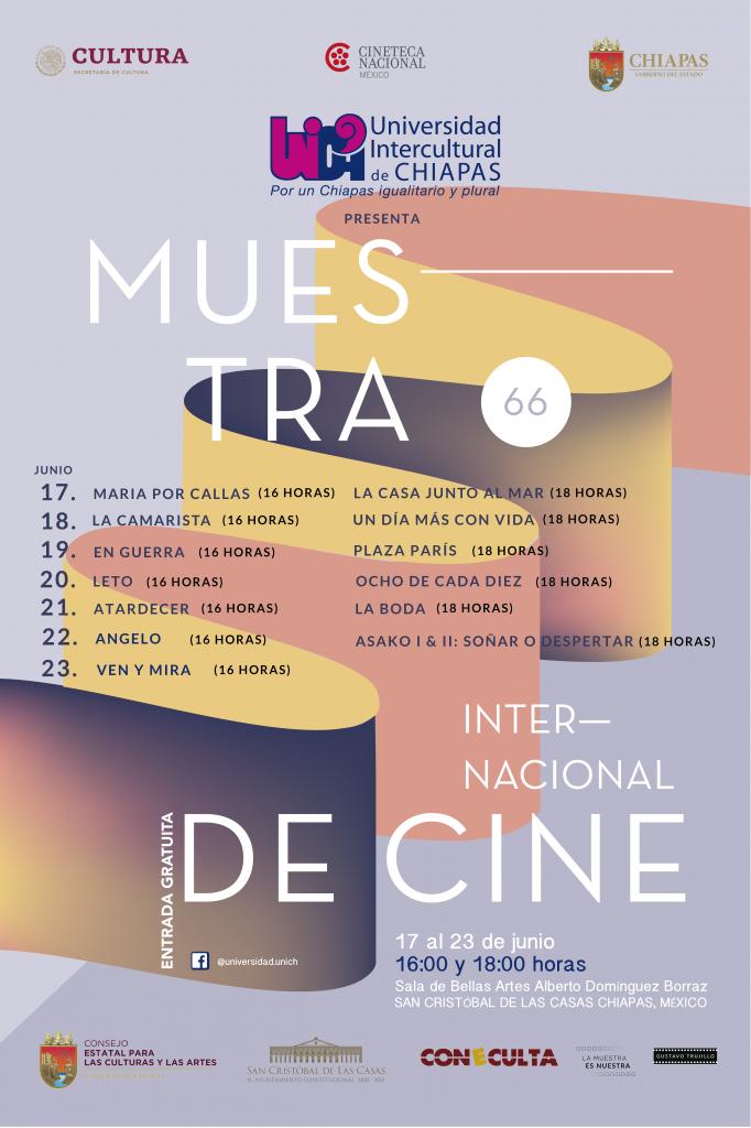 UNICH invita a la Muestra Internacional de Cine 66