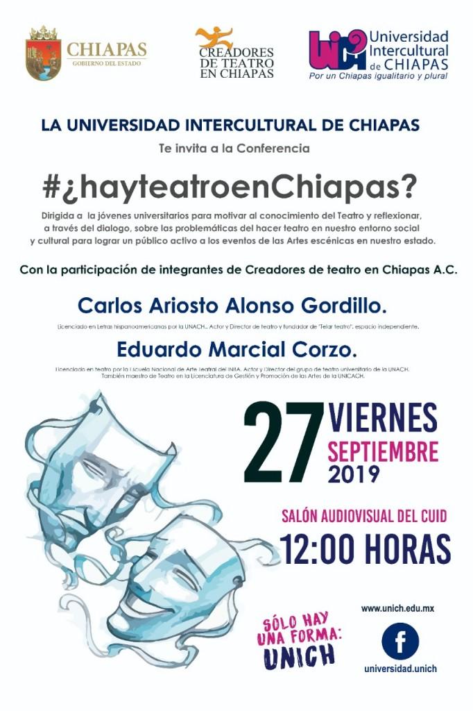 Conferencia ¿hay teatro en Chiapas?