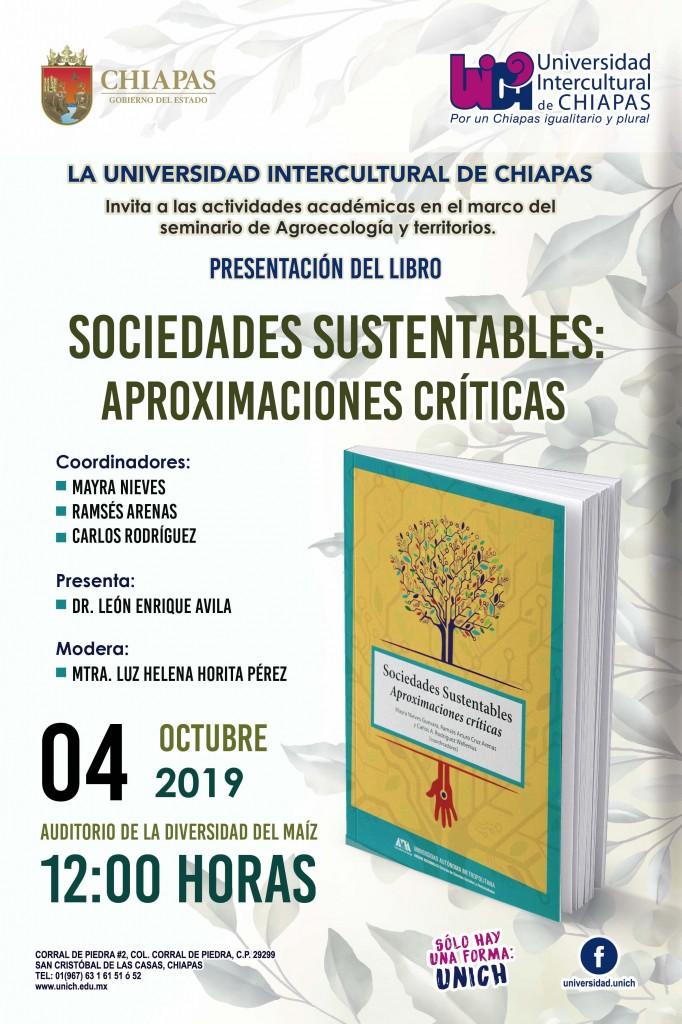 """Presentación del Libro """"Sociedades Sustentables: aproximaciones críticas"""""""