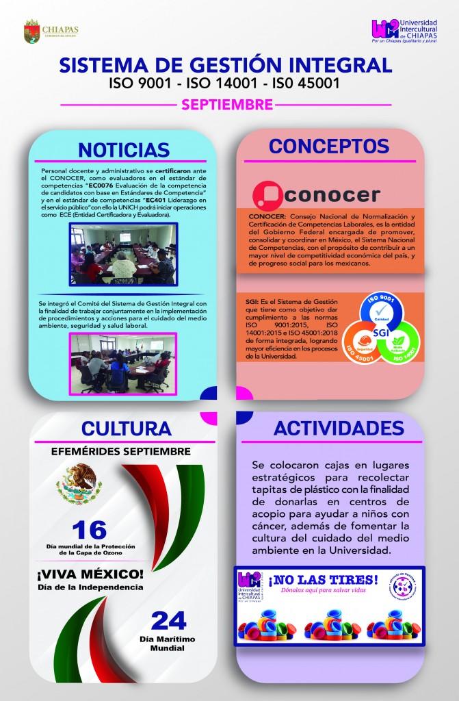 Noticias, Conceptos, Cultura y Actividades ISO 9001, 14001, 45001
