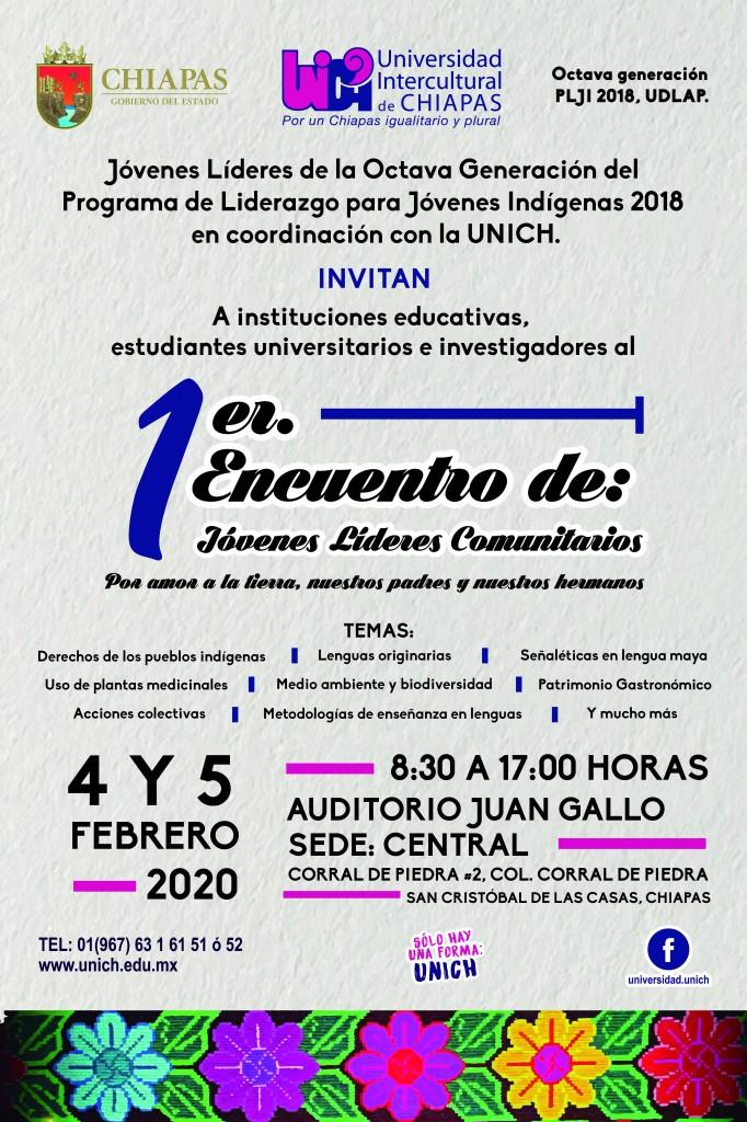 UNICH sede del 1er Encuentro de: jóvenes Líderes Comunitarios a realizarse 4 y 5 de Febrero