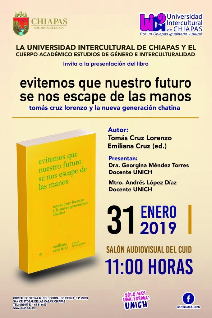 """Presentación del Libro """"evitemos que nuestro futuro se nos escape de las manos"""""""