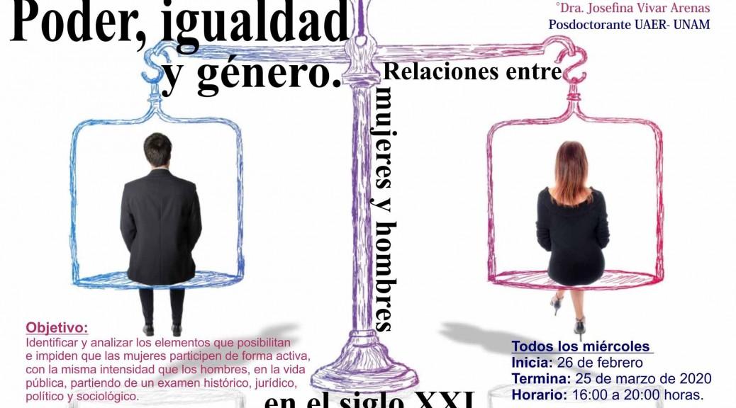 curso: Poder, igualdad y género