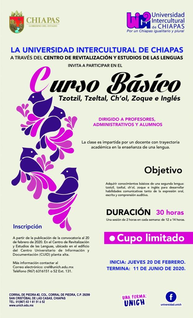 Curso Básico de Tzotzil, Tzeltal, Ch´ol, Zoque e Ingles.