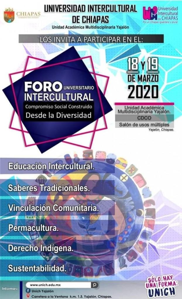 """Anuncian 6to. Foro Intercultural """"Compromiso social construido desde la diversidad"""""""